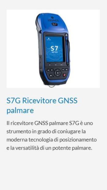 STONEX S7G RICEVITORE GNSS PALMARE