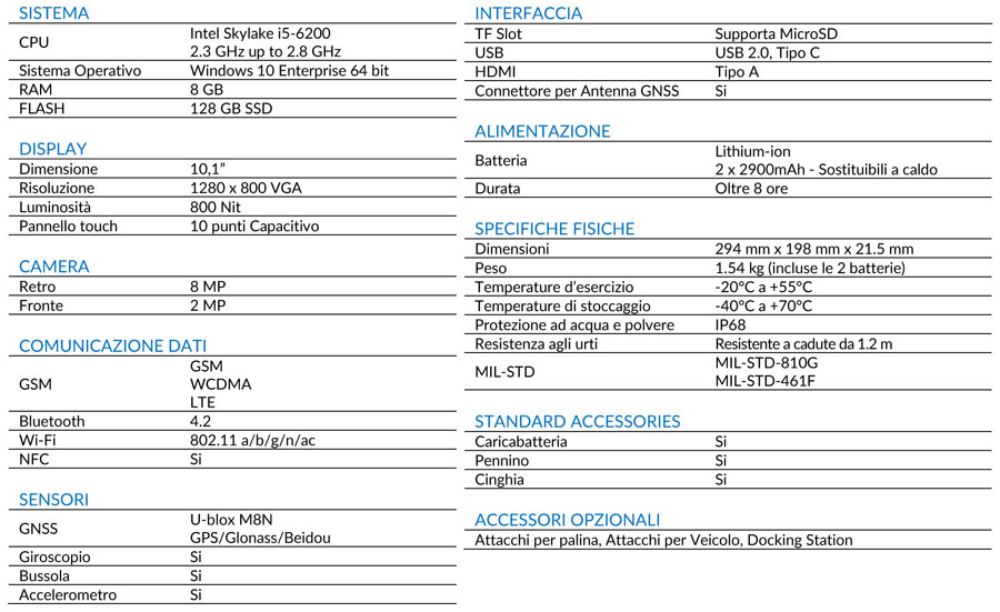 STONEX SCHEDA TECNICA UT50